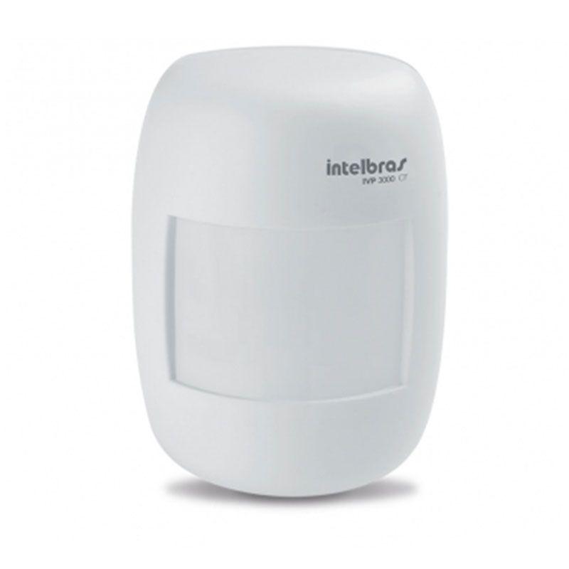 Sensor Infravermelho Passivo Intelbras IVP 3000 CF, Detecção microprocessada, 2 níveis de sensibilidade, Relé em estado sólido, Alcance de 12m, Cobertura com ângulo de 115º