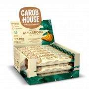 Barrinha  Alfarroba com Banana Sem Açúcar 30g x 18 - Carob House