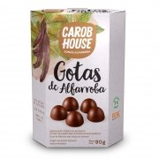 Gotas de Alfarroba Sem Açúcar 80g - Carob House