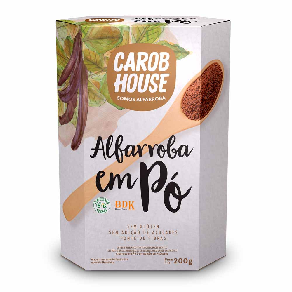 Alfarroba em Pó Sem Açúcar 200g - Carob House