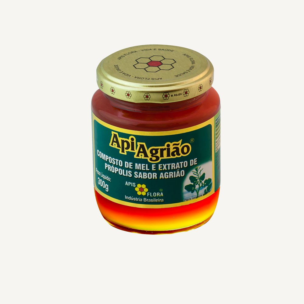 ApiAgrião Mel e Extrato de Própolis sabor Agrião 300g - Apis Flora