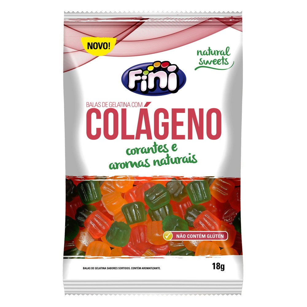 Bala de Gelatina Colágeno 18g - Fini