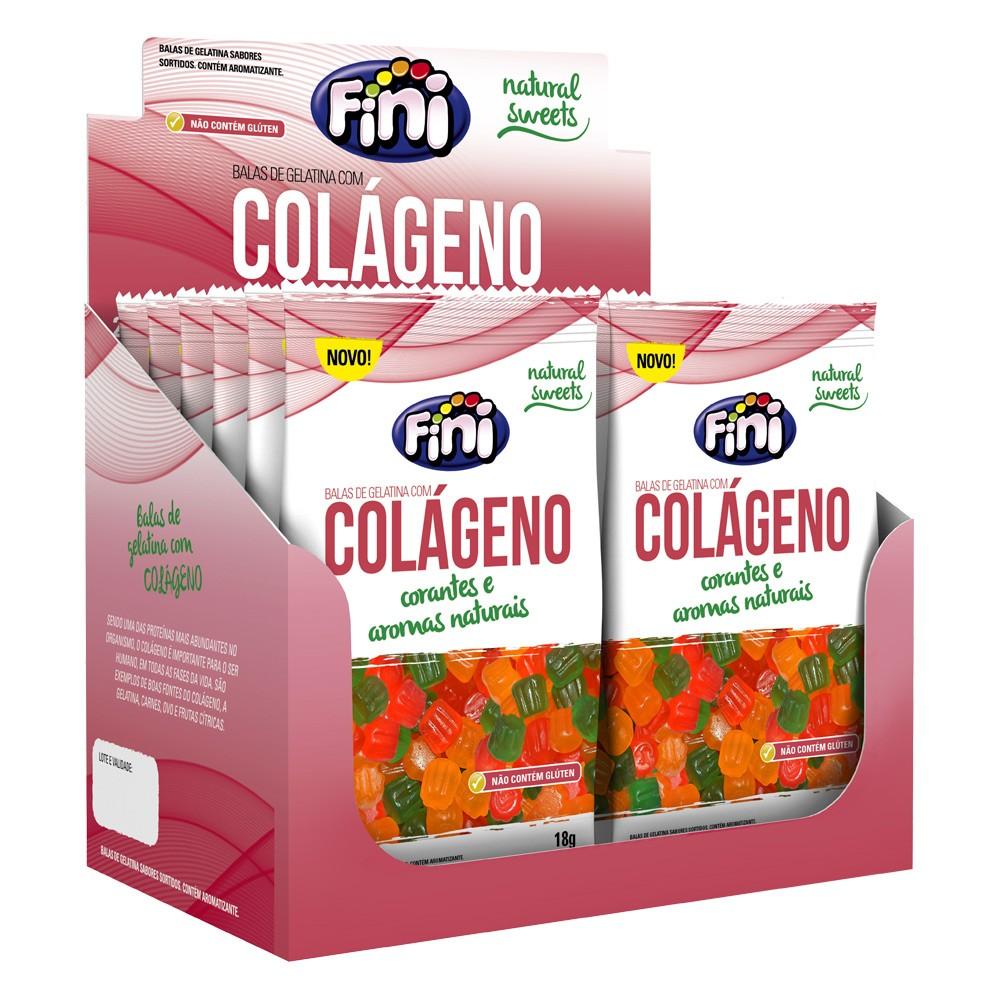 Bala de Gelatina Colágeno 18g x 12 216g - Fini