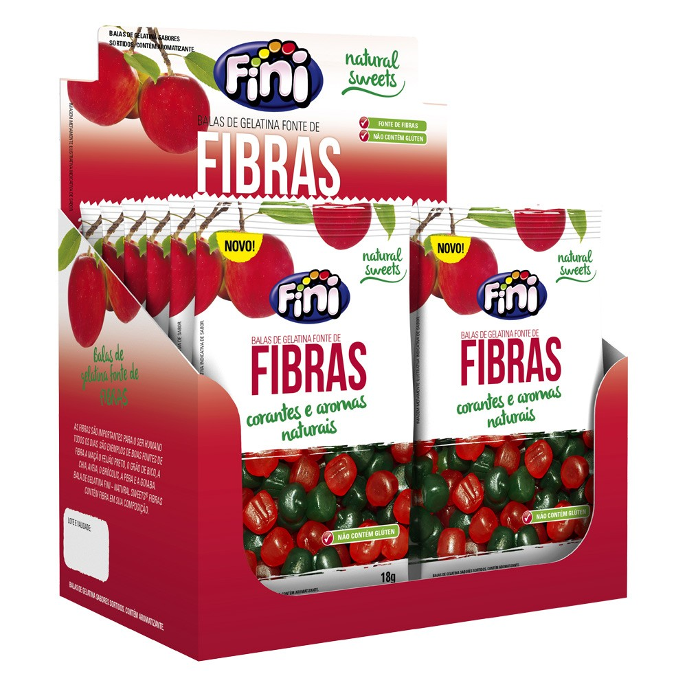 Bala de Gelatina Fibras 18g x 12 216g - Fini
