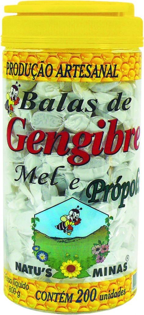 Bala de Gengibre c/ Mel e Própolis 200 unidades Unid - Natus Minas