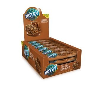 Barra  De Cereal Bolo de Chocolate 528g 22g x 24 - Nutry