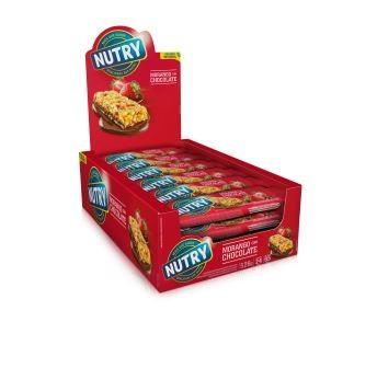 Barra  De Cereal Morango com Chocolate 528g 22g x 24 - Nutry