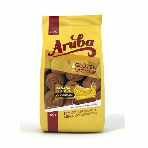 Biscoito de Banana e Canela Sem Glúten Sem Lactose 100g - Aruba