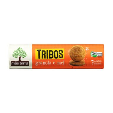 Biscoito Tribos Orgânico e Integral Granola e Mel 130g - Mãe Terra