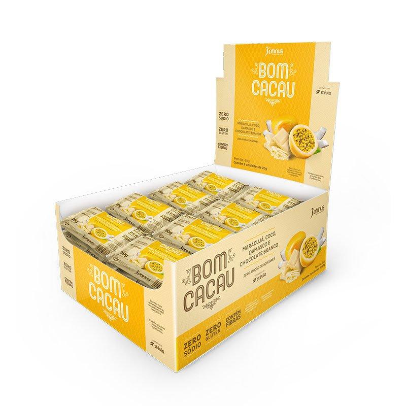 Bom Cacau Maracujá, Coco, Damasco e Chocolate Branco Zera Açúcar 480g - Phinus Life