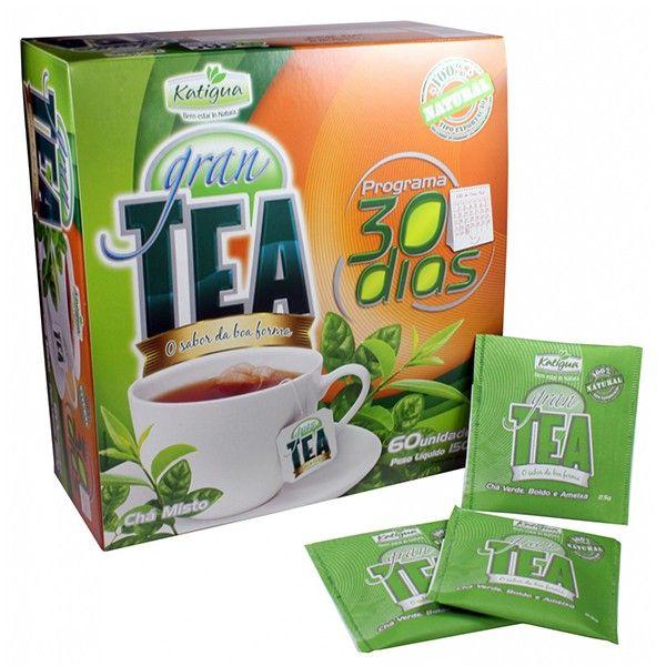 Chá Gran Tea 30 Dias 60 Sachês 150g - Katigua