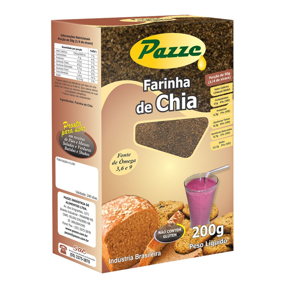 Farinha de Chia 200g - Pazze