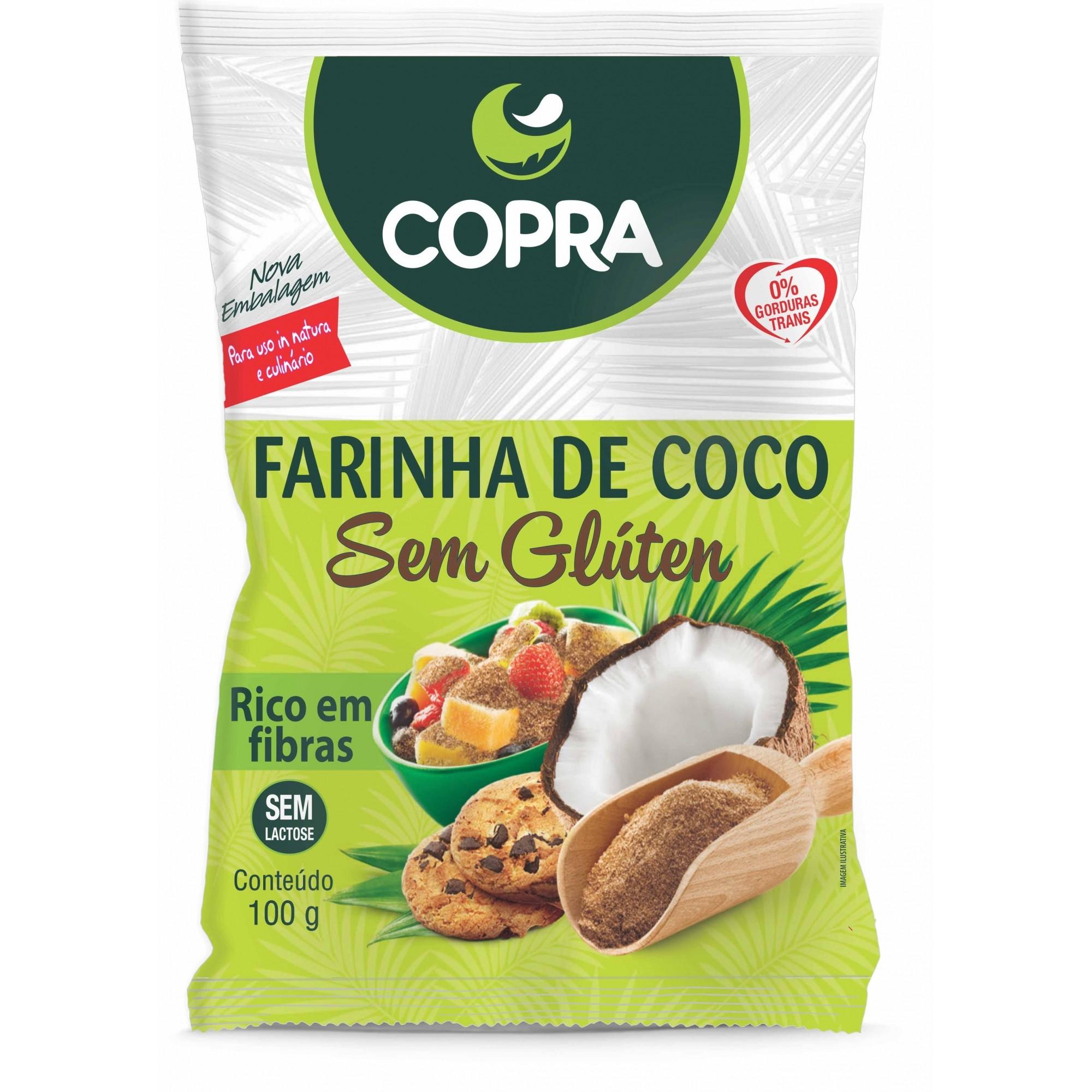 Farinha de Coco 100g s/ Glúten - Copra