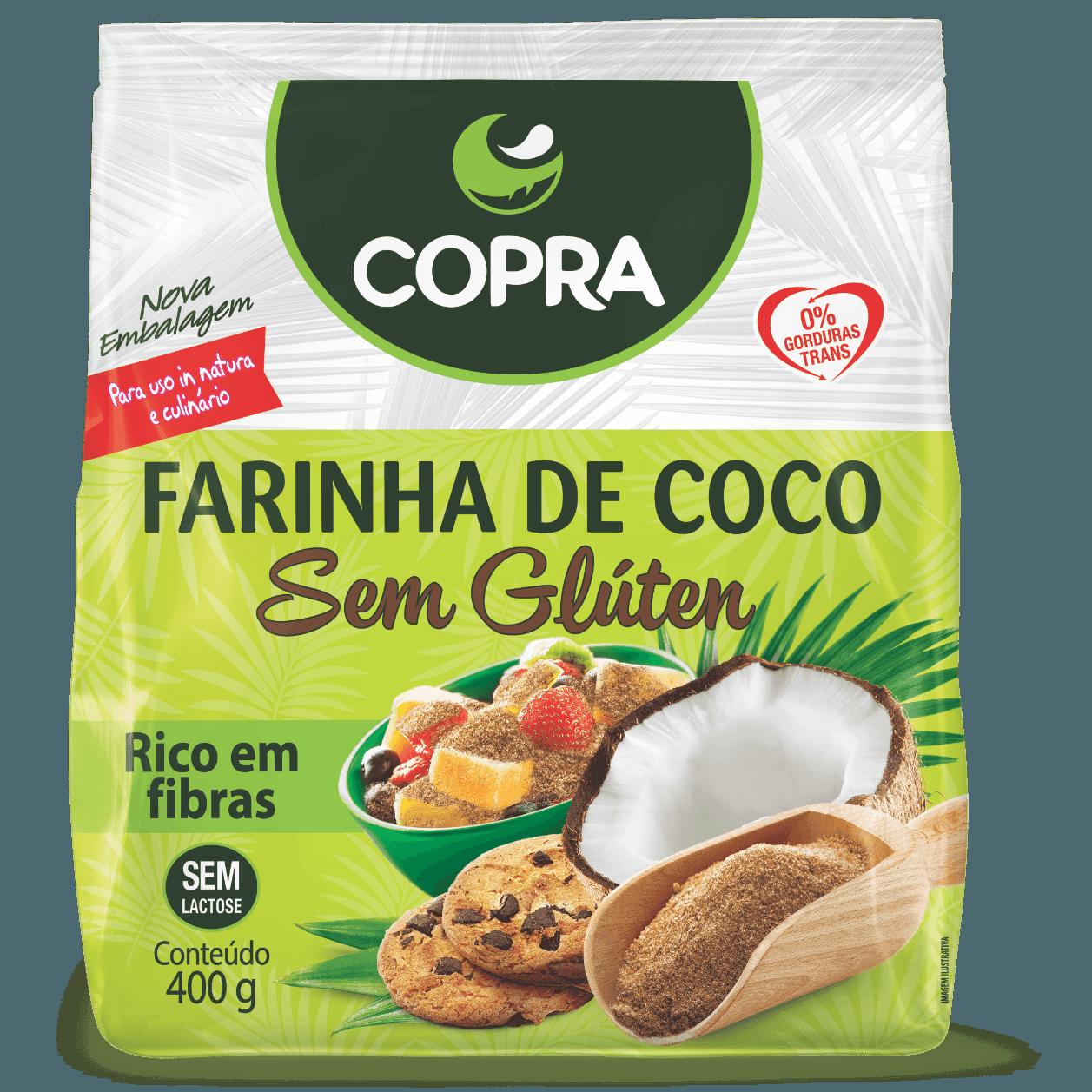 Farinha de Coco SEM GLÚTEN Copra 400g - ESGOTADO