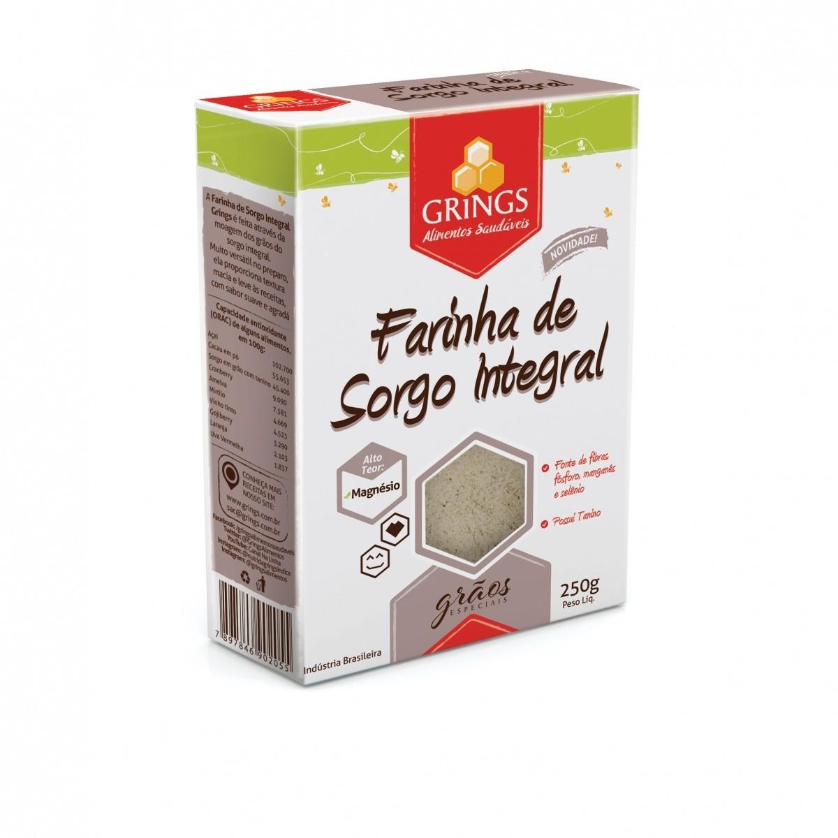 Farinha de Sorgo Integral 250g - Grings