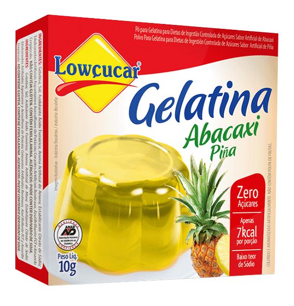 Gelatina Abacaxi Zero Açúcar 10g - Lowçúcar