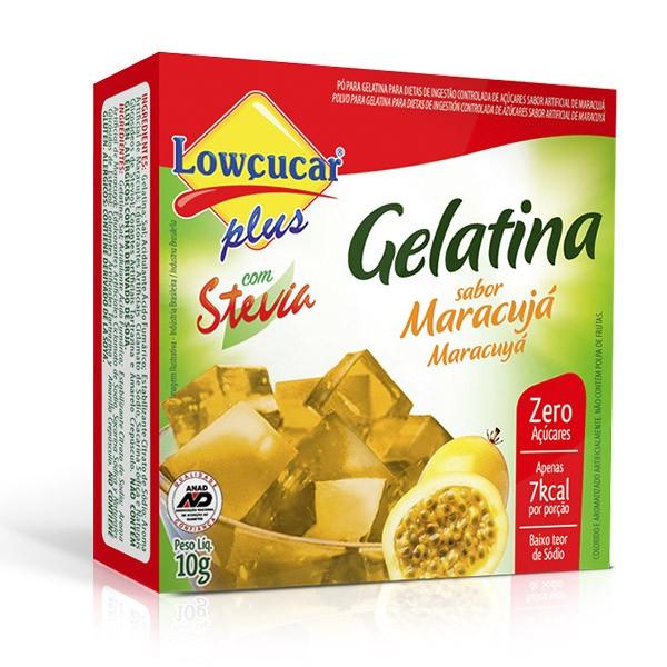 Gelatina Plus com Stevia Maracujá Zero Açúcar 10g - Lowçúcar