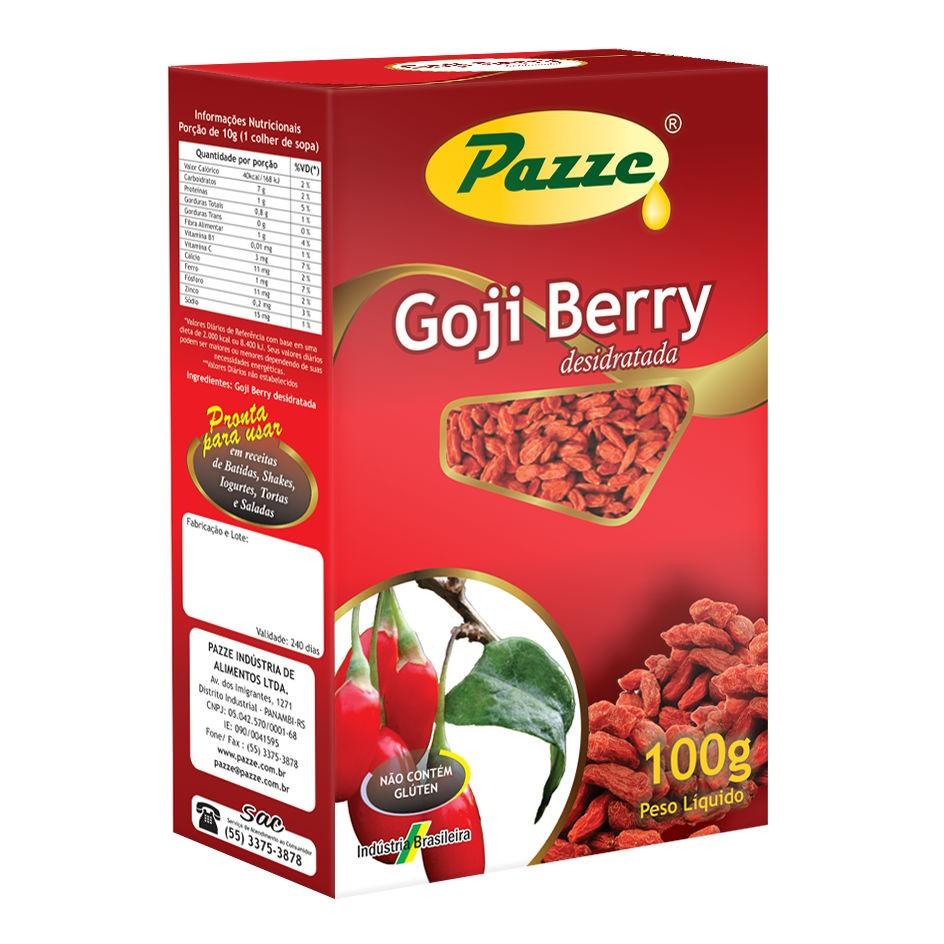 Goji Berry Desidratada 100g - Pazze