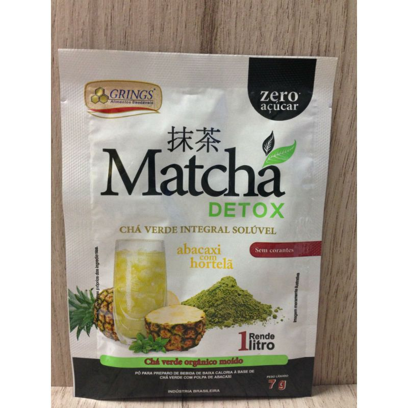 Matcha Orgânico Integral Abacaxi com Hortelã 7g-  Grings