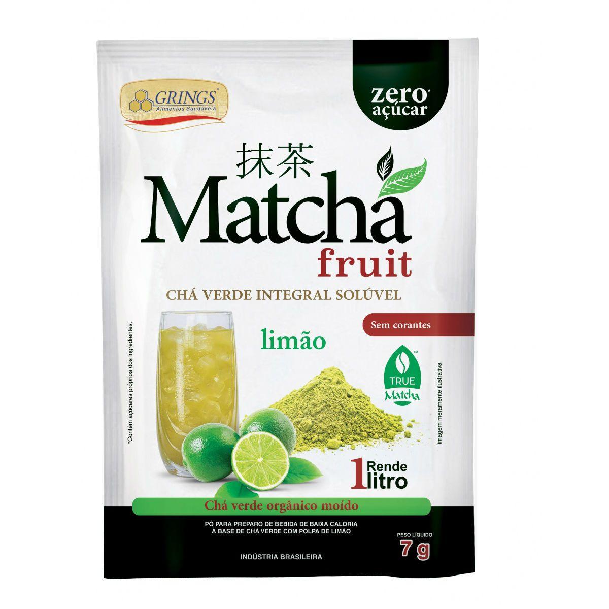 Matcha Detox Orgânico Integral Limão 7g -  Grings