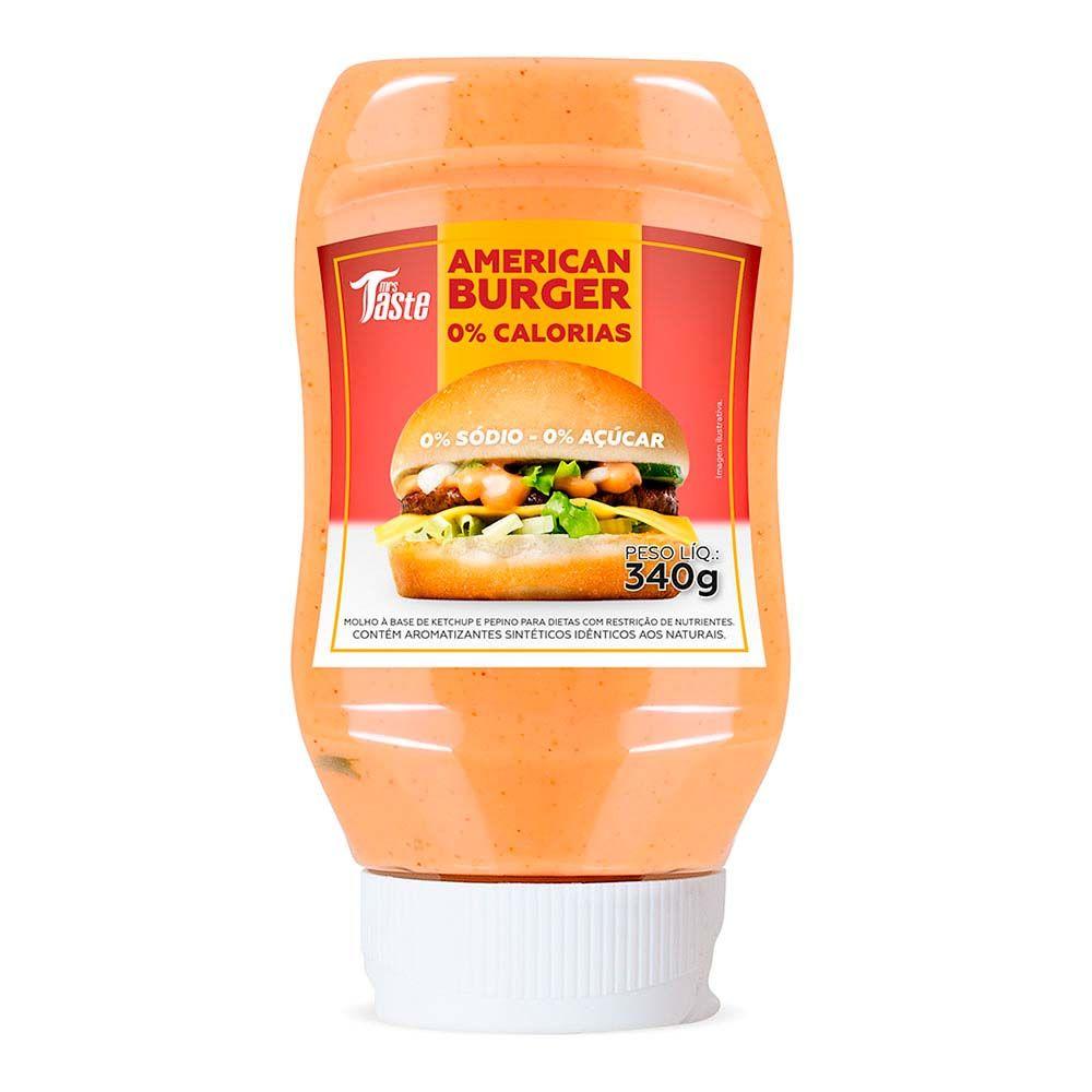 Molho American Burger Zero 350g - Mrs Taste