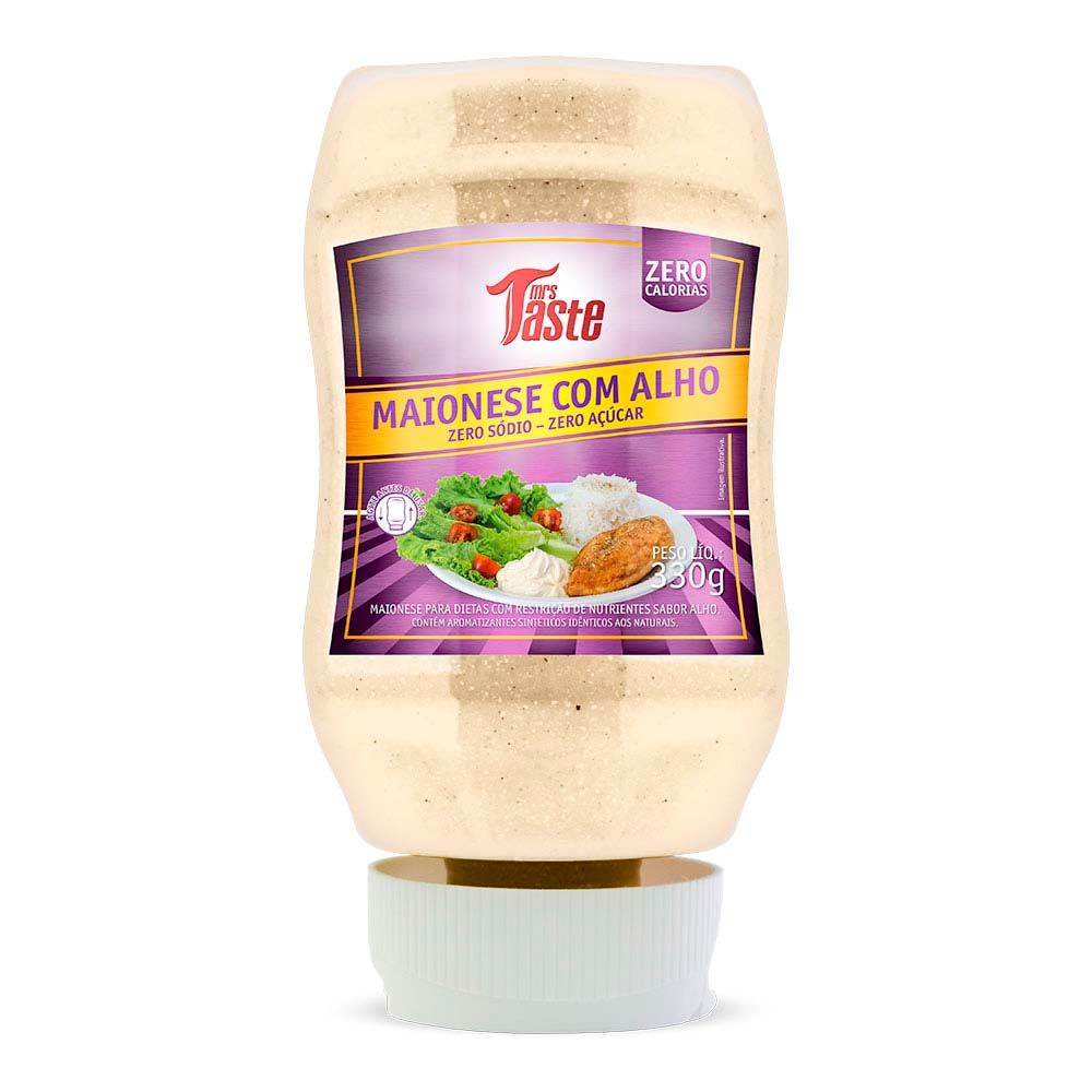 Molho Maionese com Alho Zero 330g - Mrs Taste
