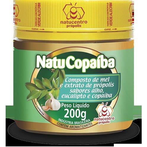 NatuCopaíba Composto de mel e Extrato de Própolis sabores Alho, Eucalipto e Copaíba 200g - Natucentro