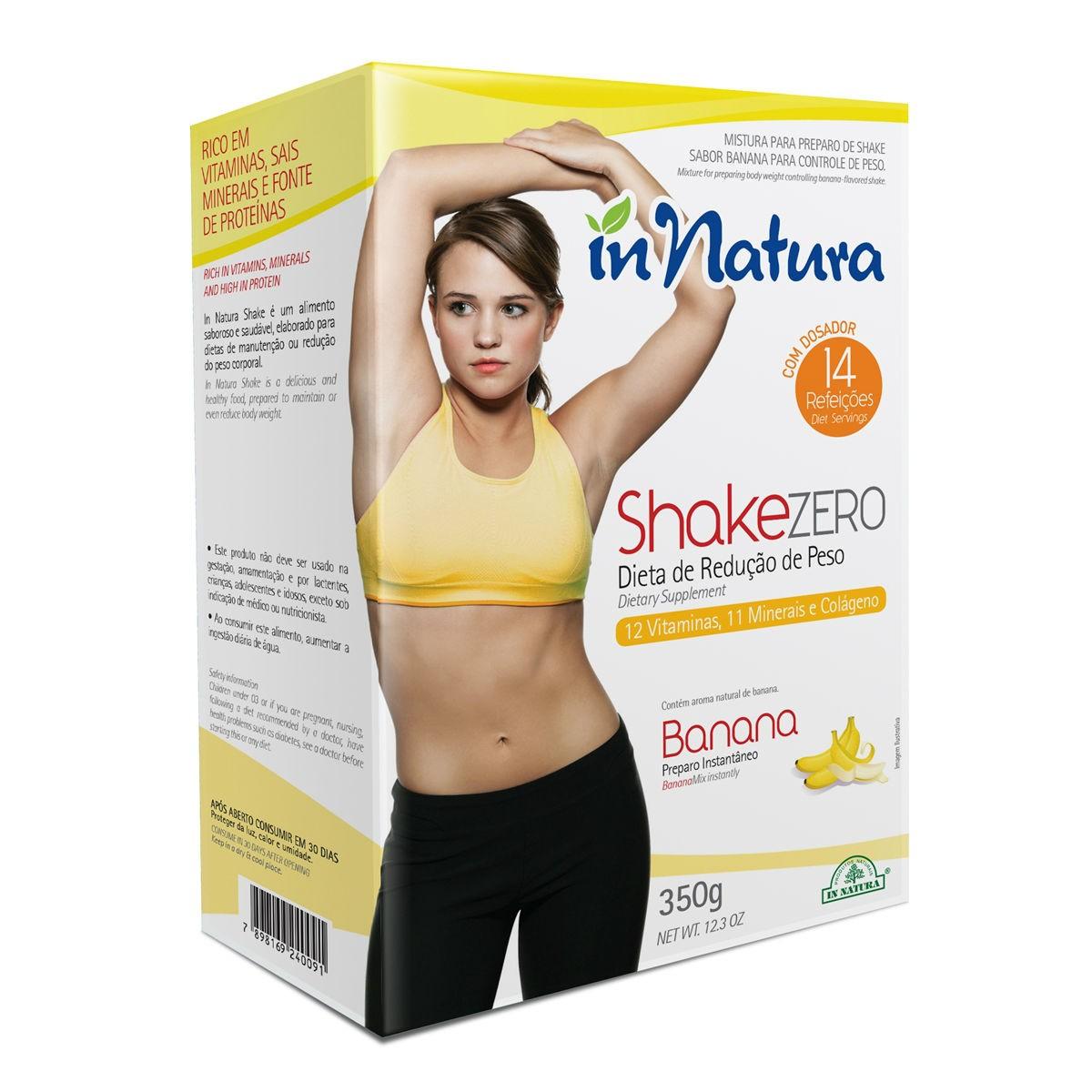Shake Zero Banana 350g - In Natura