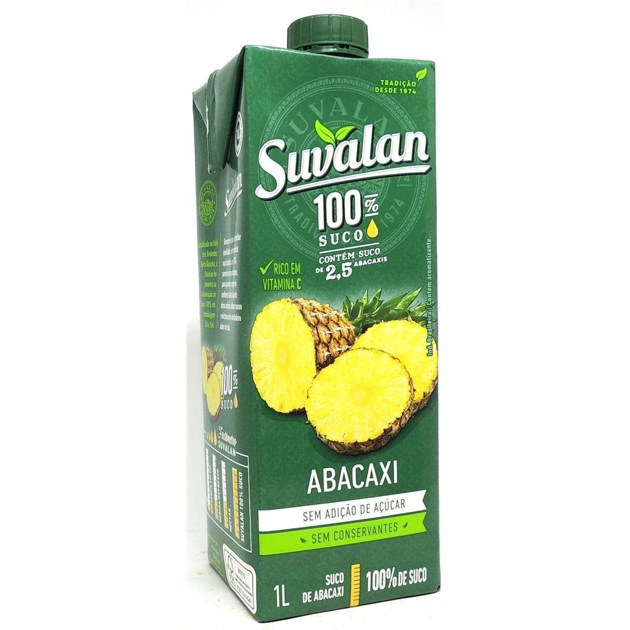 Suco 100% Abacaxi 1L Sem Adição de Açúcar - Suvalan - ESGOTADO