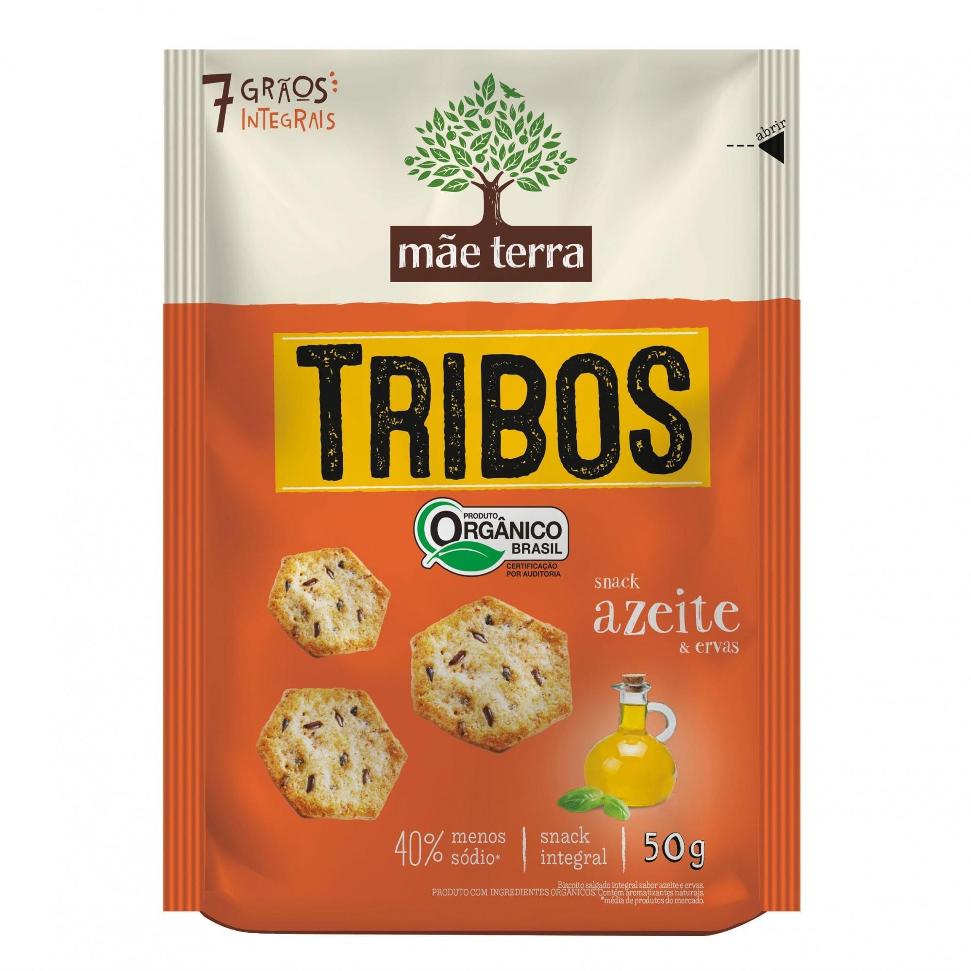 Tribos Snack Orgânico Azeite e Ervas 50g - Mãe Terra