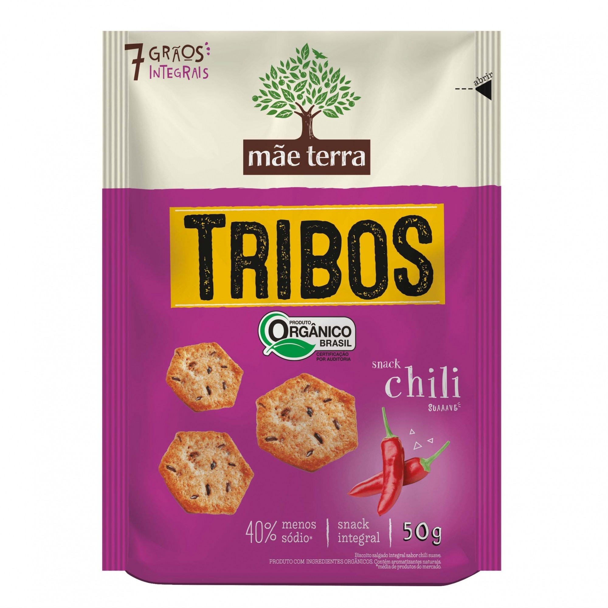Tribos Snack Orgânico Chili 50g - Mãe Terra