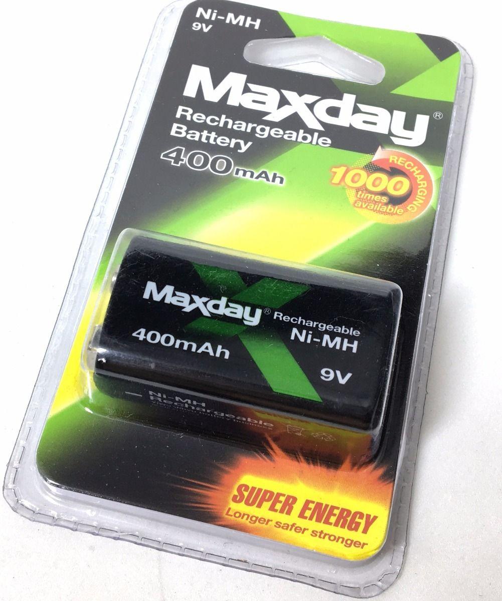 10 X Bateria Baterias Recarregável 9v 400 Mah Preço Atacado