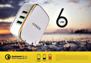 Carregador turbo 6 portas usb bivolt 7A quick charger