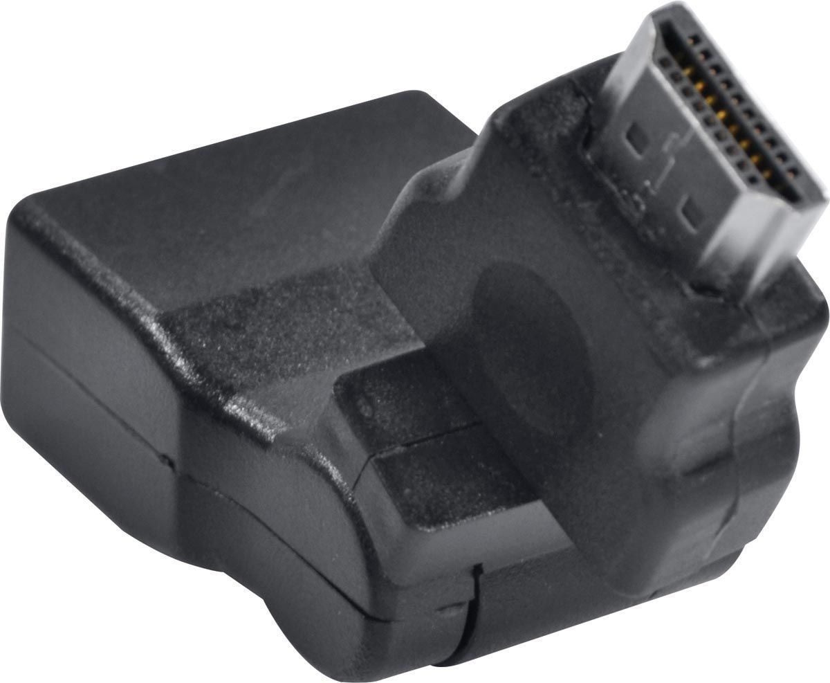 ADAPTADOR HDMI FEMEÁ X HDMI MACHO 360 GRAUS