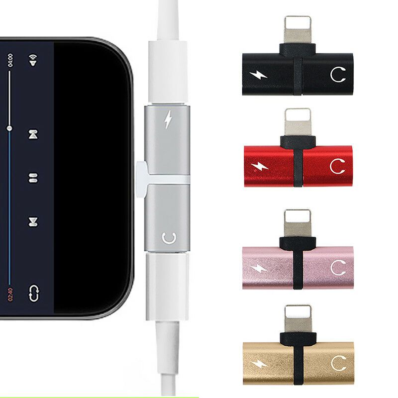 Adaptador Lightning Splitter P/ Iphone 7/7plus/8/8plus/x