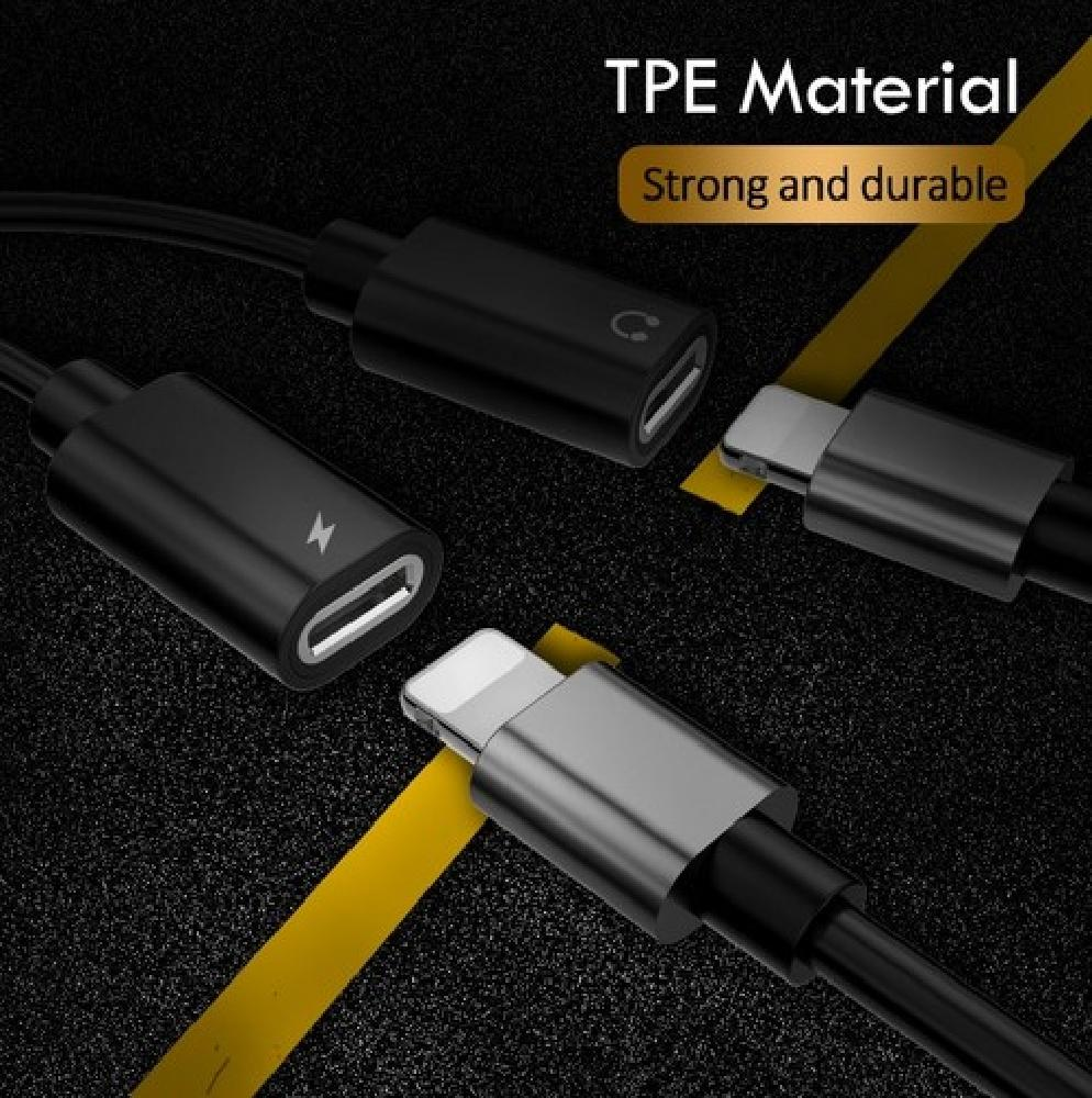 Adaptador Lightning Splitter P/ Iphone 7/7plus/8/8plus/x