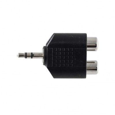 Adaptador Plug P2 estéreo X 2 Jack Rca