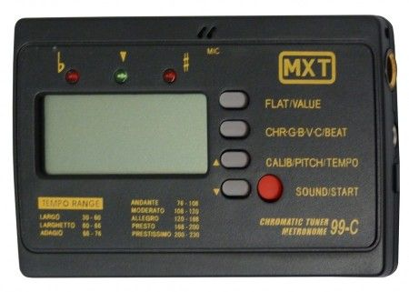 Afinador De Instrumentos Musicais Com Metrônomo e entrada P10