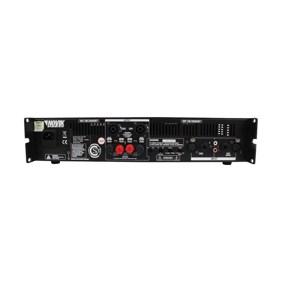 Amplificador De Som 1500w Rms 4 Ohms Novo1500