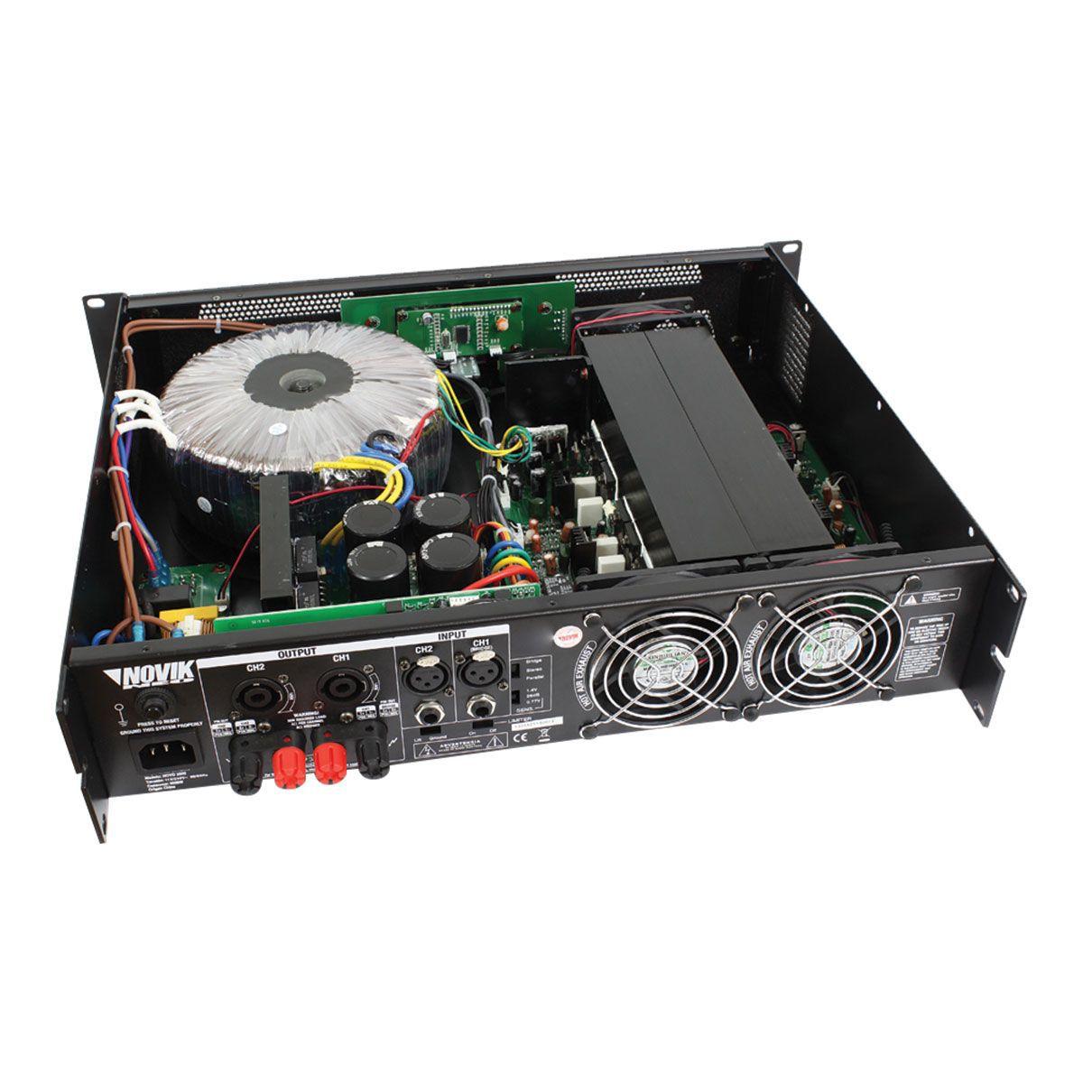 Amplificador De Som 2500w Rms 4 Ohms Novo2500