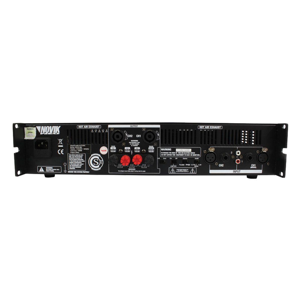 Amplificador De Som 500w Rms 4 Ohms Novo500