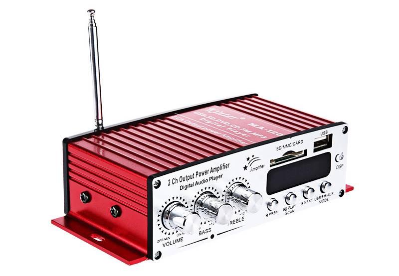 Amplificador de som com 2 canais - 40 RMS