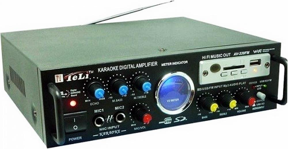 Amplificador de som com 2 canal karaokê e bluetooth 288A