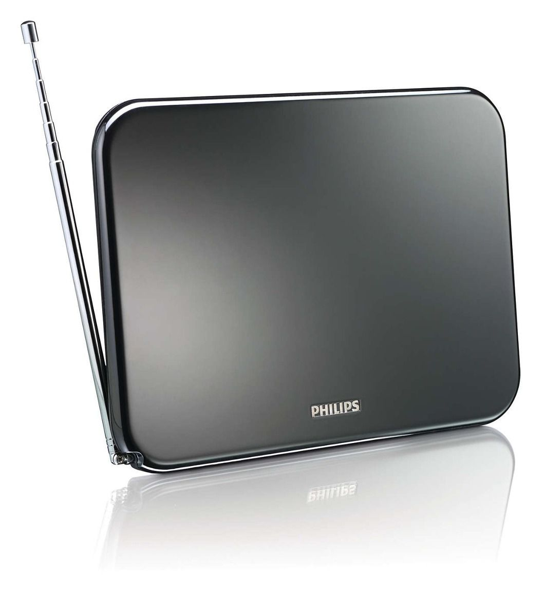 Antena Philips Uhf / Vhf Amplificada 25db