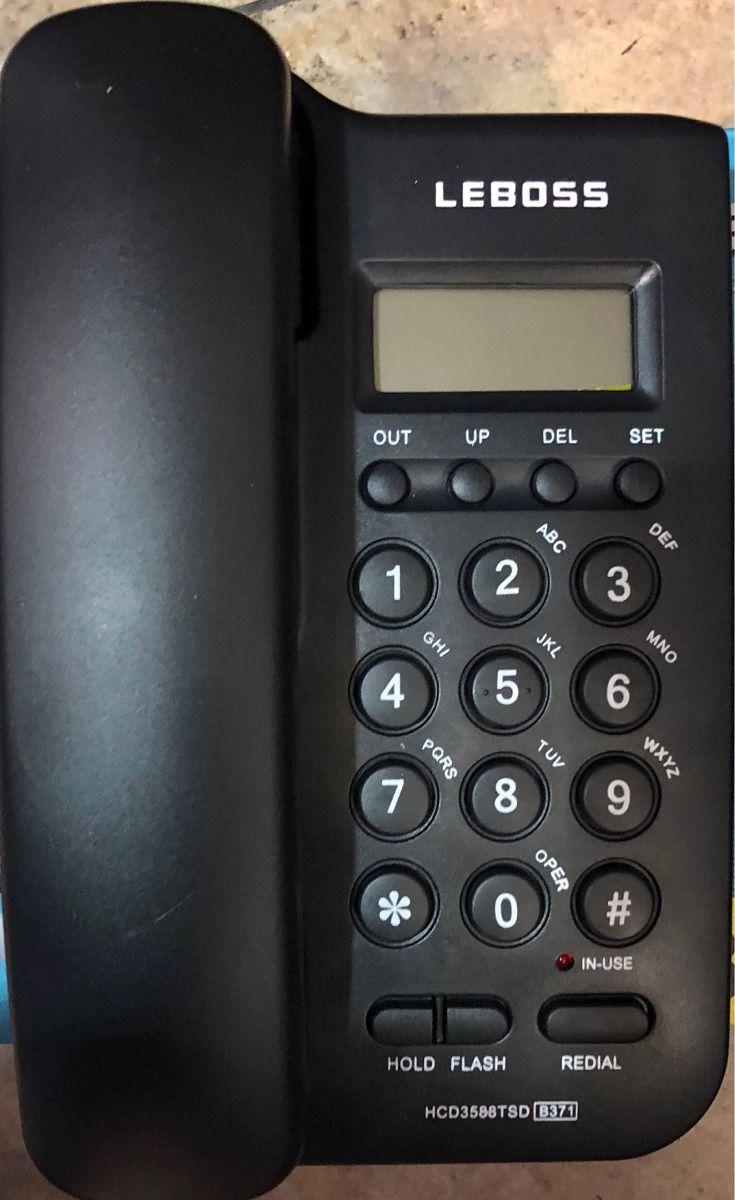 Aparelho De Telefone Leboss Com Bina Fixo
