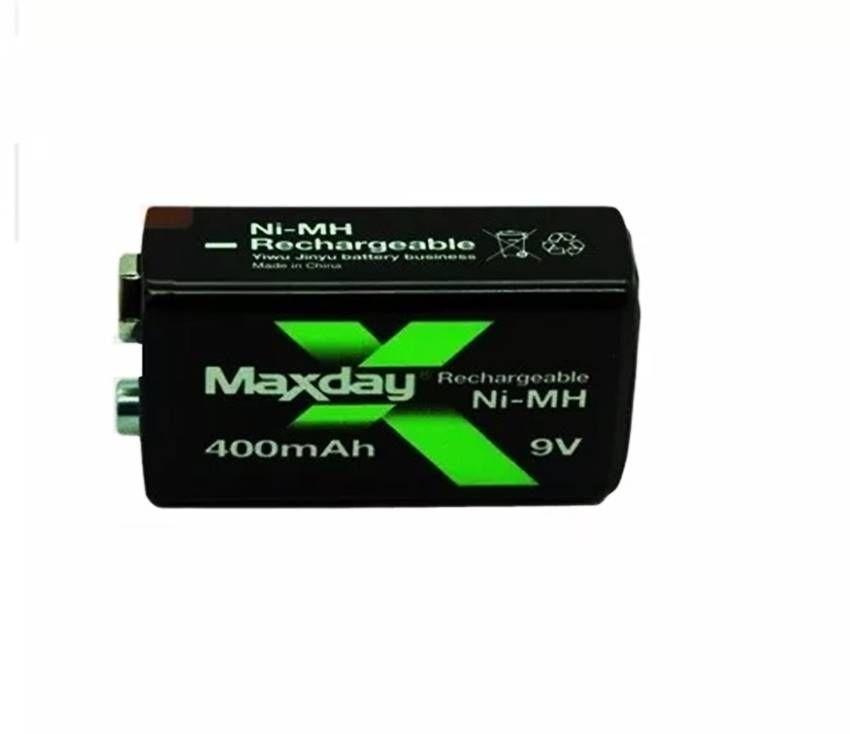 Bateria recarregável 9v 400 mAh