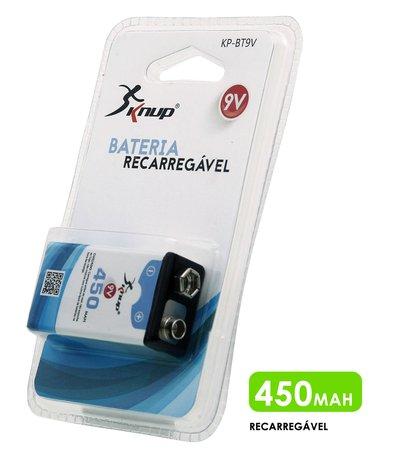 Bateria recarregável 9v 450 mAh