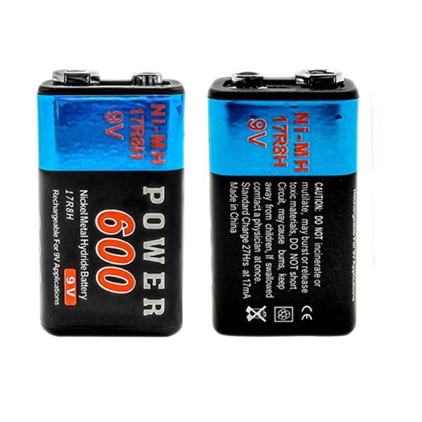 Bateria Recarregável 9V - 600 mAh