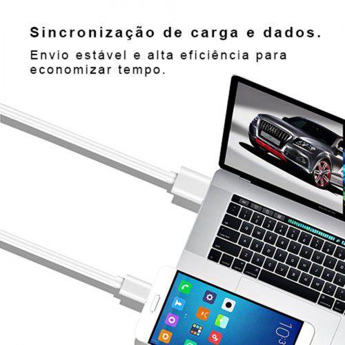 CABO USB 3 METROS TYPE-C com tecnologia turbo