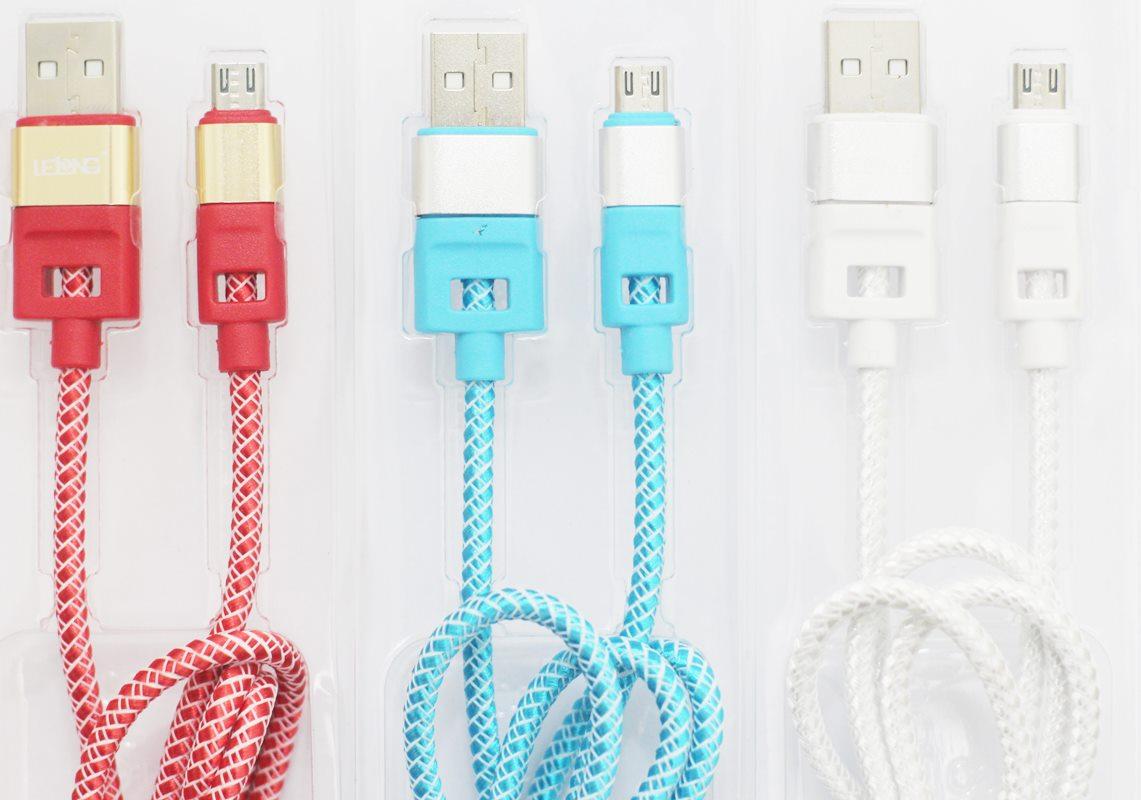 Cabo Micro USB Nylon Reforçado carregamento rápido